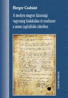 A modern magyar házassági vagyonjog -